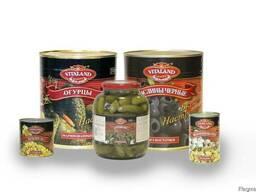 Консервированные овощи, фрукты и грибы Vitaland