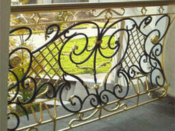 Кованые ажурные перила, решетки, ворота.
