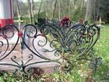Кованые ритуальные ограды - фото 3
