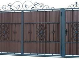 """Кованые ворота и калитка """" Самрук""""- 180.000."""
