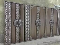 """Кованые ворота и калитка """" Шанырак""""- 170.000."""
