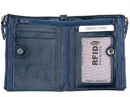 Кожаное портмоне от воровства с банковских карт RFID/Кошелек