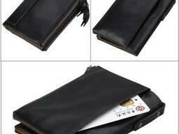 Кожаное портмоне от воровства с карточек/RFID protected/Нови