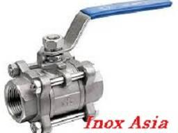 Кран шаровой AISI 304/AISI 316 (из 3-х частей)