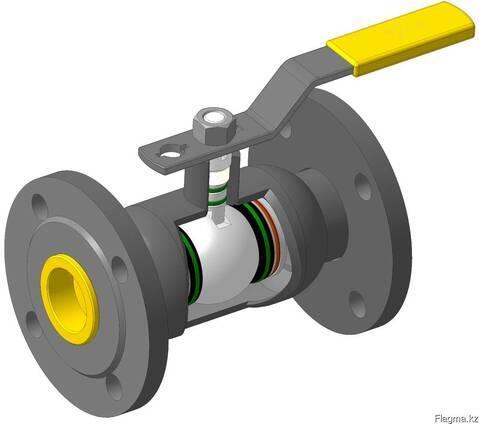 Кран шаровый DN40 PN40 МПА фланцевый стальной