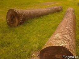 Круглый лес породы Ясень, Дуб