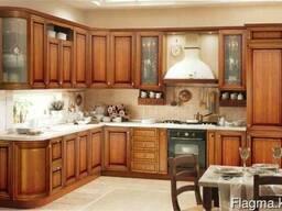 Кухни из массива лиственных и хвойных пород древесины!