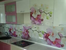 Кухонные фартуки из МДФ с УФ (UV) фотопечатью. Скинали