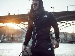 Куртка с косым замком Body Engineers черная
