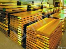 Латунный лист, марка: Л63 м, размер: 0. 5x600x1500мм.
