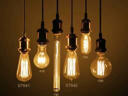 LED лампы Эдисона, лампы ретро-стиля, ретро лампы