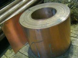 Лента медная М1, М1М, от 0,1*30мм до 3*115мм