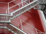 Лестницы маршевые с площадками и опорами - фото 1