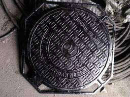 Люк чугунный канализационный Тип Л с запорным устройством
