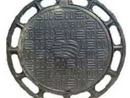 Люк канализацион из высокопрочного чугуна В125, круглый, ВК