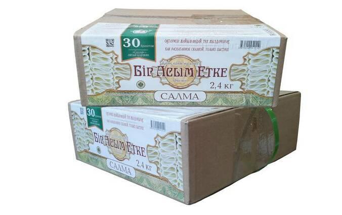 Макаронные изделия салма «Бір Асым Етке» 2,4 кг.