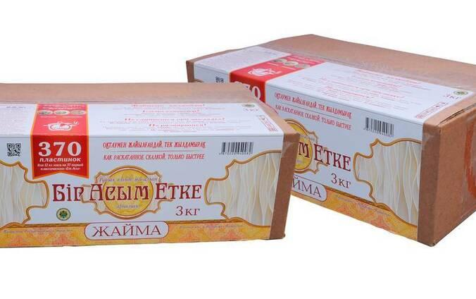 """Макаронные изделия Жайма """"Бір Асым Етке"""" 3 кг."""
