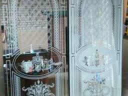 Матовые рисунки на стекле и зеркале