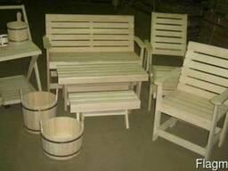 Мебель для бани из лиственных и хвойных пород древесины!
