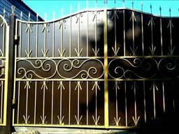 Металлические ворота. Забор(Ограждение) из профлиста.