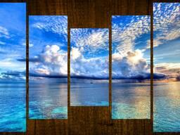 Модульные картины из стекла.