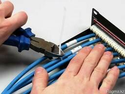 Монтаж всех видов кабельных сетей в Алматы