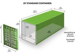 Морской контейнер 20 - футовый. Казахстан, г. Костанай.
