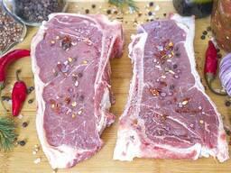 Мясо говядины, тибон стейк (мясные продукты от Эко фермы Славянка)