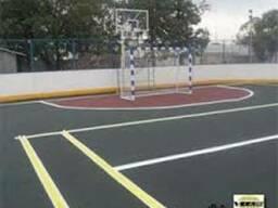 Наливное резиновое покрытие для спортивных площадок вШымкент