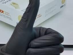 Нитриловые черные перчатки, розовые перчатки