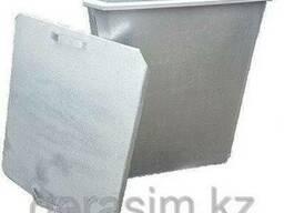 Оцинкованные мусорныеКонтейнеры 0,75 куб.с крышкой, без ко