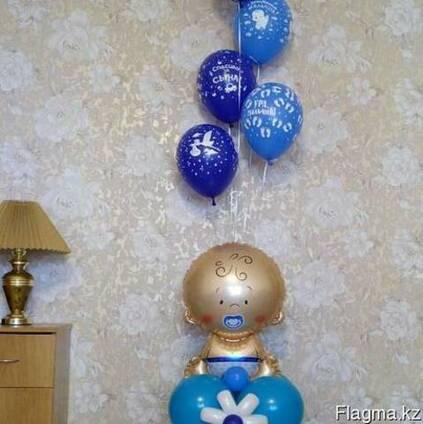 Оформление праздника шарами.выписка из роддома.день рождение