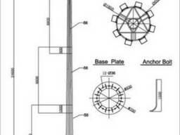 Опоры освещение 8 метровые 9 метровые 10 метровые