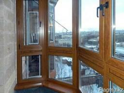 Остекление балконов и лоджий. Балкон пластиковый в Караганде