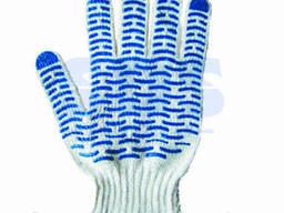 Перчатки х/б с покрытием ПВХ («Волна») 5 нитей, 54-56 г