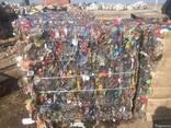 ПЭТ бутылки прессованные сортированные по цветам бело-голубы - фото 1