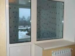 Пластиковое окно глухое балконный блок (кирпичный дом) - фото 4