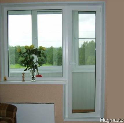 Пластиковое окно глухое балконный блок (панельный дом)