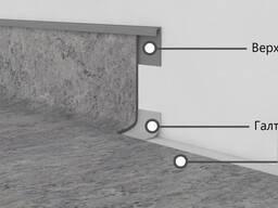 Плинтус для заведения линолеума на стену