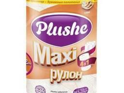 Plushe бумажные полотенца Maxi 2 слоя ,1 рулон.40 метров
