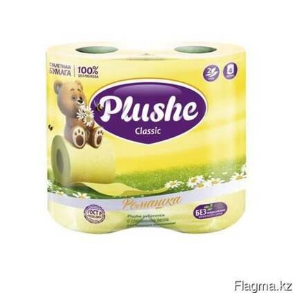 Plushe Classic ромашка 2 слоя,4 рулона клубника