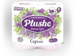 Plushe Deluxe Light - сирень 3 слоя,4 рулона