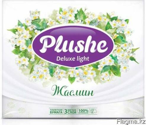 Plushe Deluxe Light - жасмин 3 слоя,4 рулона