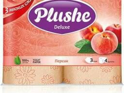 Plushe Deluxe - персик 3 слоя,4 рулона