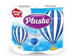 Plushe Light Color White 2 слоя,4 рулона