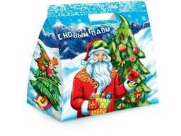 Подарочная упаковка - Сумочка с Дедом Морозом 2020 года