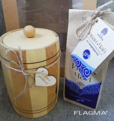 Подарочный набор Мед в бочонке с семейной пасеки
