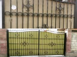 Покраска ворот и металлоконструкций