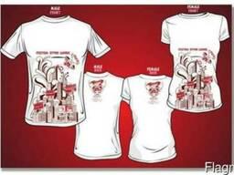 Пошив футболкок, маек, свитшотов с нашим дизайном (унисекс)