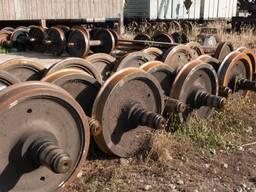 Продам колесные пары , колеса и оси колесных пар б/у